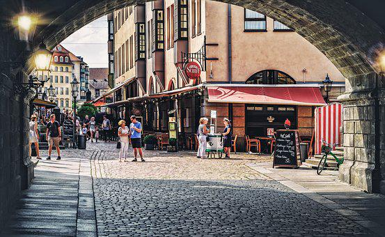 Live, Alive, Human, Marketplace, Pedestrian Zone, Road