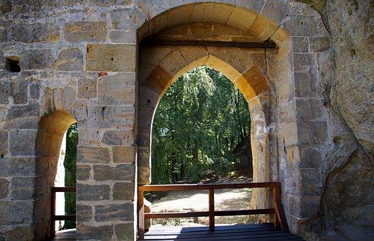 Portal, Window, Vista, Ancient, Historical, Wall, Arch