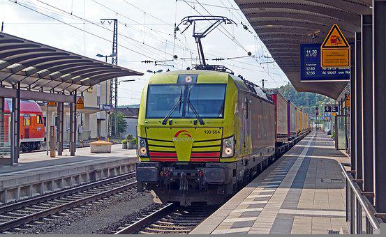 Modern Freight Train, Private Railway, Railway Station