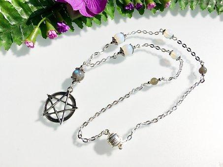 Pentagram, New Age, Amulet, Necklace, Jewellery, Retro