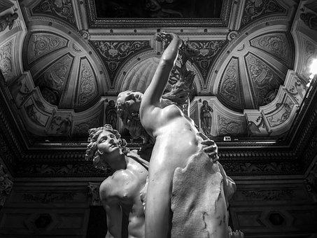 Rome, Borghese, Art, Italy, Statue, Artwork, Sculpture