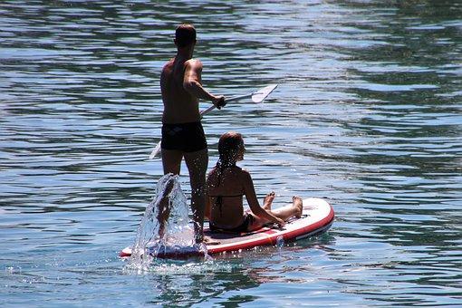 Sup, Para, Total, Swimming, Rowing, Active, Lake, Water
