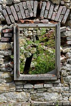 Wall, Frame, By Looking, Masonry, Brick, Ruin