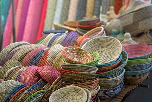 Market, Basket, Craft, Sale, Shopping, Colorful, Buy