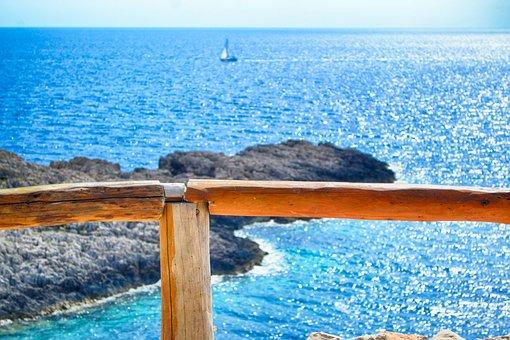 Sea, Zakynthos, Korakonisi, Balcony, Seascape, View