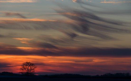 Sky, Clouds, Sunset, Landscape, Mood, Twilight