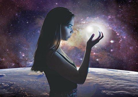 Gothic, Goth, Fantasy, Cosmos, Galaxy, Stars, Woman