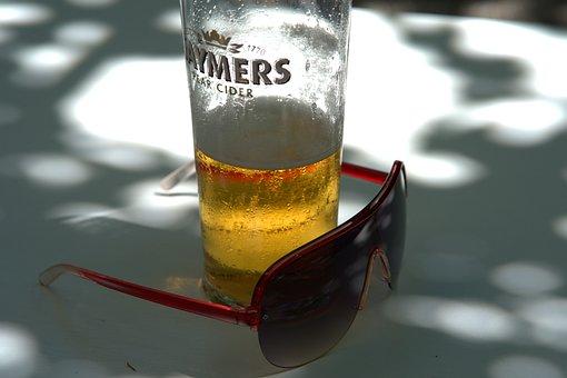 Sunglasses, Beer, Beer Glass, Summer, Sun, Vacations
