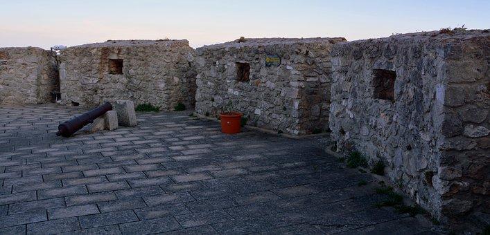 Castle, Torre, Cannon, Middle Ages, Monument