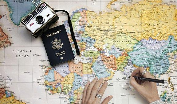 Map, Travel, Travel Map, Explore, Cartography, City