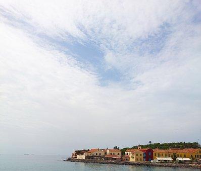 Island, Senegal, Travel, Maps, Sea, Beach, Front, View