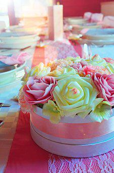 Wedding Table, Wedding, Bouquet, Place Setting, Holiday