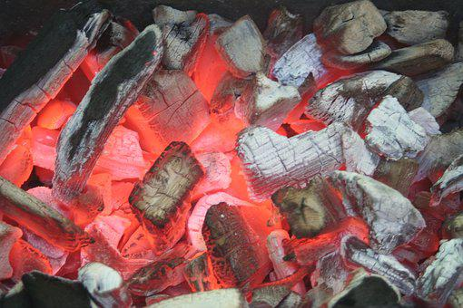 Barbecue, Carbon, Weissglut, Grill, Hot, Heat, Glow
