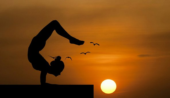 Yoga, Balance, Nature, Handstand, Roof, Pose, Beauty