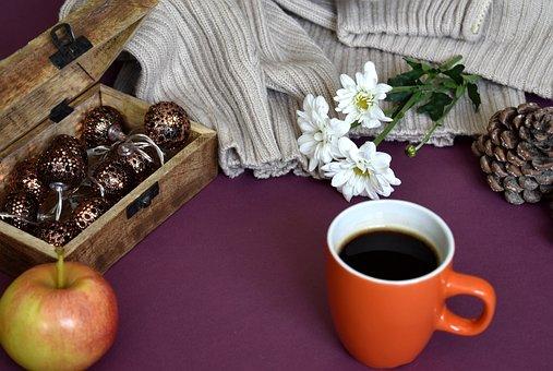 Autumn, Fall, Coffee, Cup, Mug, Drink, Colorful