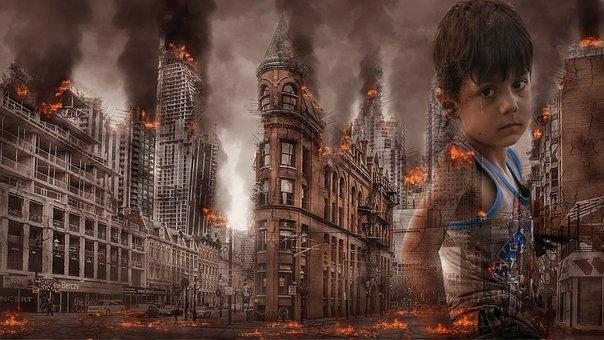 War, Fear, Children, Face, Boy, Destruction, Bad
