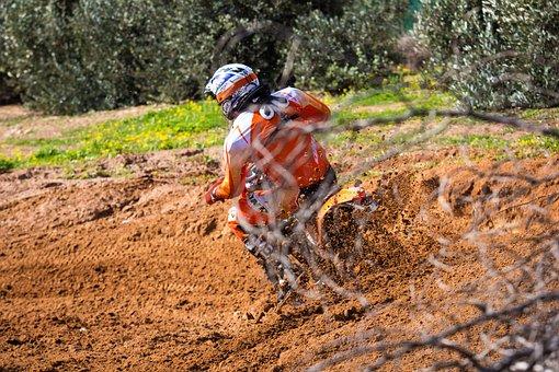 Motocross, Bike, Motorcycle, Sport, Vehicle, Man, Ride