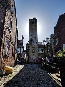Knutsford, Tower, Sun, Sky, Architecture, Summer, Blue