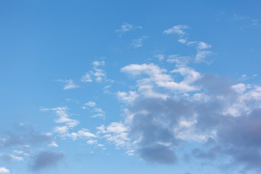 Blue Sky, White Clouds, Sky, Clouds, Clear Light