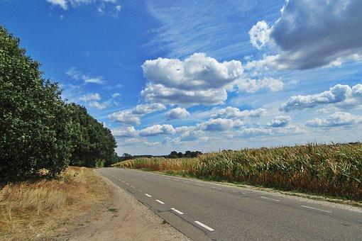 Clouds, Heat Wave, Dry, Cornfield, Landscape, Burn