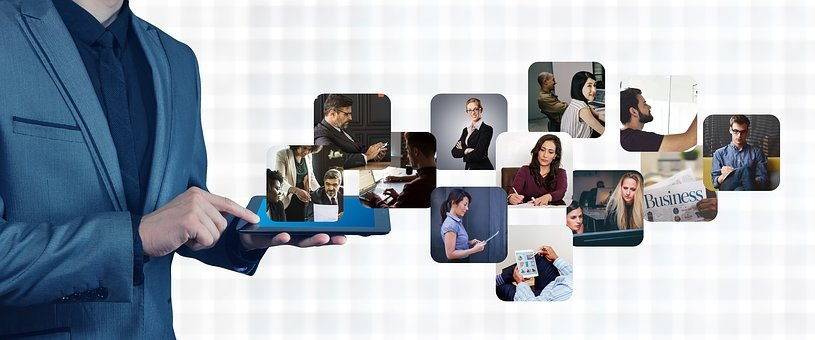 Network, Business, Man, Tablet, Connection, Connected