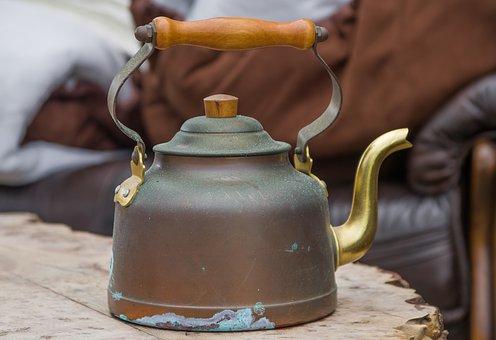 Kettle, Copper, Vintage, Kitchen, Heat