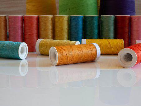 Sewing, Website Background, Copy Space, Front View