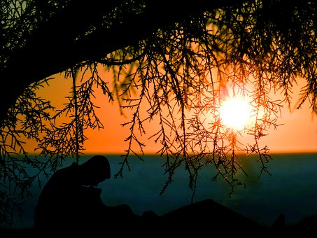 Sunrise, Sunset, Dusk, Dawn, Couple, Lying, Lovers