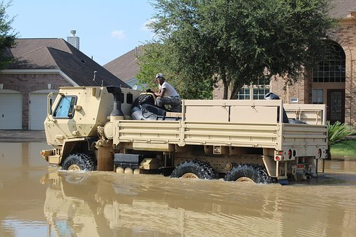 Hurricane Harvey, Flood, Army, Disaster Relief, Water