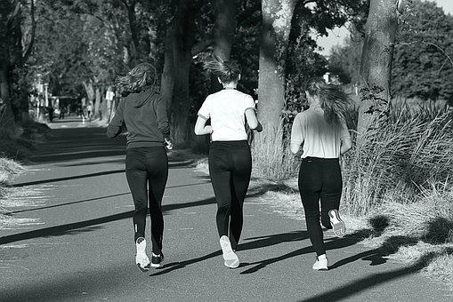 Girl, Person, Adult, Running, Runner, Exercise