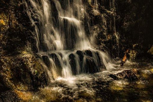 Waterfall, Water, Nature, River, Falls, Splash, Scenic
