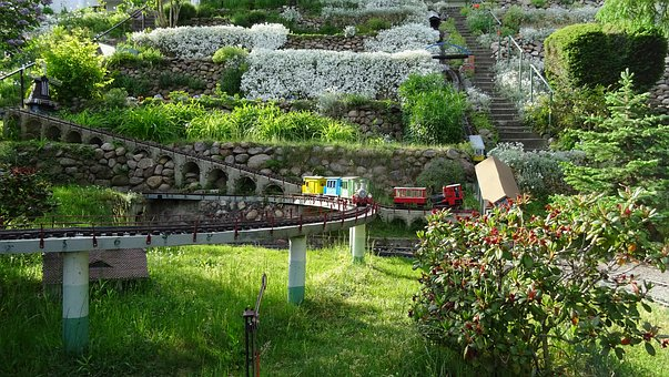 Garden, Plant, Railway, Model, Train, Building, Hobby