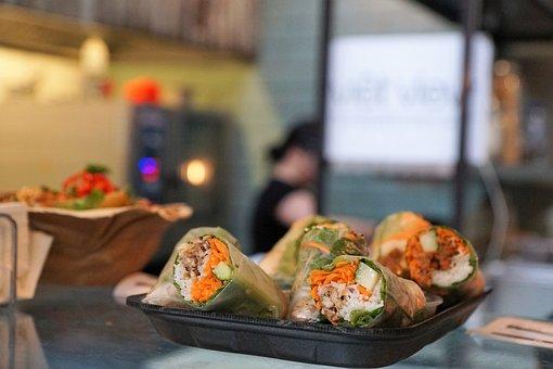 Eat, Vietnam, Healthy, Delicious, Spring Rolls, Roll