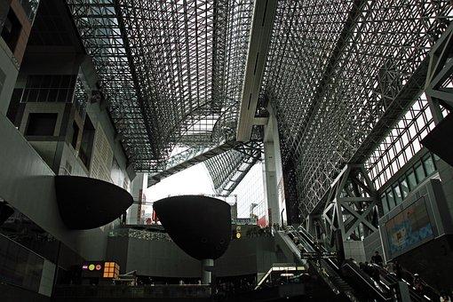 Kyoto, Train, Station, Architecture, Landmark, Japan