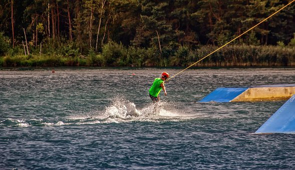 Water, Sport, Water Sports, Wakeboard, Leisure, Lake