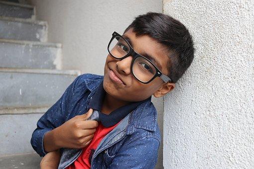 Smart Boy, Smart Kid, Glasses, Handsome, Little, Youth