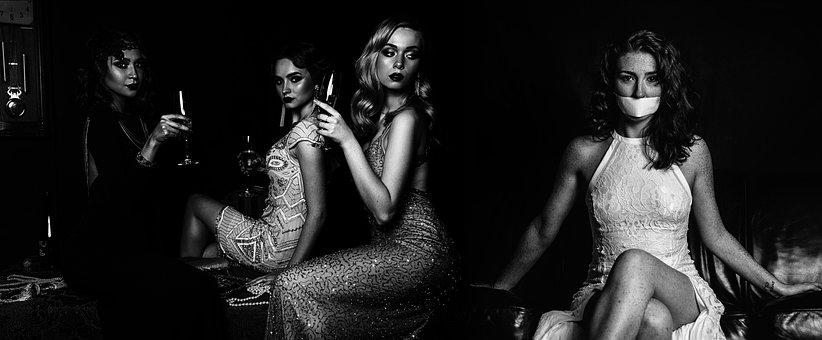 Women, Black White, People, Model, Adult, Sensual
