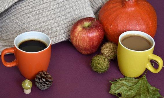 Autumn, Season, Coffee, Drink, Fall, Cups, Mugs