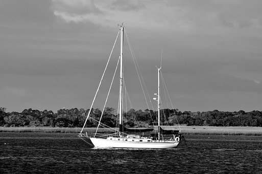 Sailboat, Sailing, River, Sea, Water, Sail, Nature, Sky