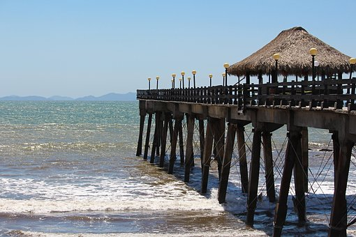 Costa Rica, Outdoors, Travel, Sky, Blue, Beach, Ocean