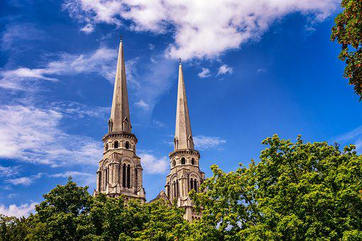 Tower, Church, Pointed, Steeple, Architecture, Sky, Old