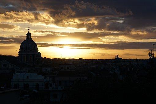 Sunset, Rome, Italy, Roman, Europe, Travel