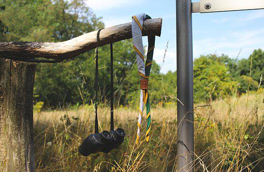 Travel, Railing, Wood, Binoculars, Scarf, Path Finder
