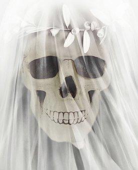 Bride, Skull, Skeleton, Dead, Thriller, Death, Gloomy