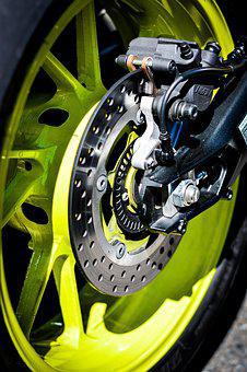 Disk, Wheels, Bike, Yellow, Speed, Motorcycles