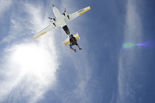 Sky, Tandem, Jump, Parachute, Higuerote, Venezuela