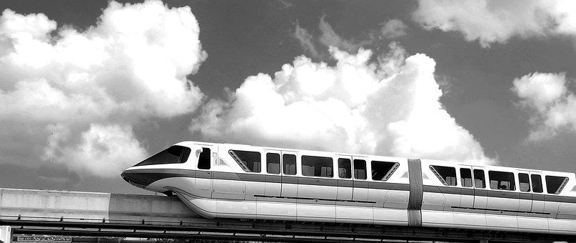 Mono Rail, Train, Tram, Transportation, Monorail, Track