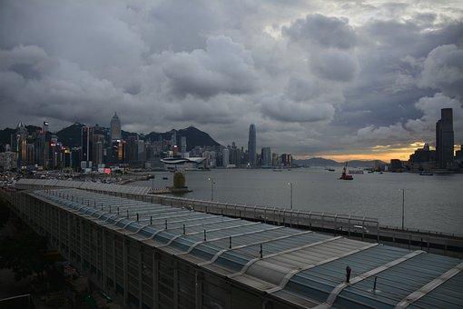 Hongkong, Victoria, City, Cityscape, Travel, Harbor