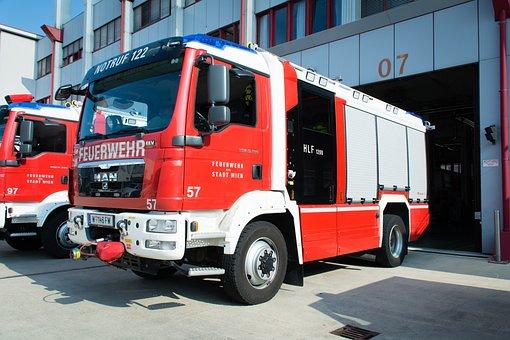 Fire, Vehicle, Delete, Truck, Vienna, Fire Truck