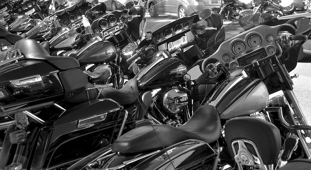Motorcycles, Monochrome, Bikers Week, Florida, Usa